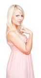 Mysterious Blonde Royalty Free Stock Photo