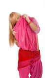Mysterious blonde girl Royalty Free Stock Photography