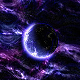 Mysterious blue planet Stock Photos