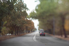 Mysterious blurry road. Royalty Free Stock Photos