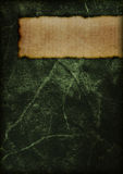 Mysterious book cover - green Stock Image