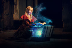 Mysterious book of magic Royalty Free Stock Photos
