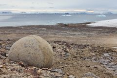 Mysterious boulders and pebbles of Champ Island Royalty Free Stock Photography