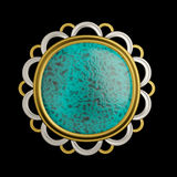 Mysterious brooch conceptual design Stock Images