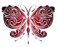 Mysterious butterfly .Tattoo design. Insect tattoo butterfly fly wing Royalty Free Stock Images