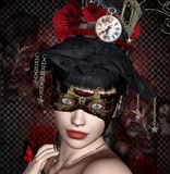Mysterious carnival mask Stock Image
