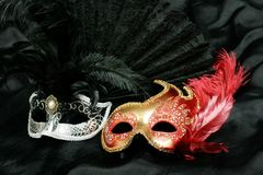 Mysterious carnival mask Royalty Free Stock Photos