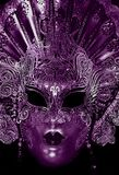 Mysterious carnival mask in ultra violet color