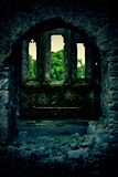 Mysterious castle. With trinity windows in Ireland Stock Photography