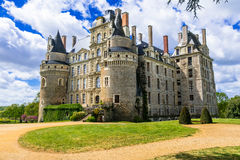 Mysterious castles of France - Chateau de Brissac ,Loire valley Royalty Free Stock Photo