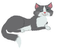 Mysterious cat royalty free illustration