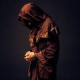Mysterious Catholic monk Royalty Free Stock Photo