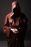 Mysterious Catholic monk Stock Photography