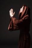 Mysterious Catholic monk Stock Image