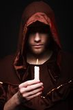 Mysterious Catholic monk Stock Images