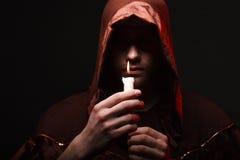 Mysterious Catholic monk Royalty Free Stock Photos