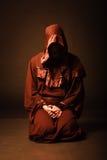 Mysterious Catholic monk. Stock Photos