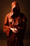 Mysterious Catholic monk. Royalty Free Stock Photo