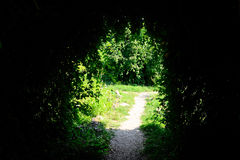Mysterious Cave. Mysterious Dark Cave In A Park Royalty Free Stock Images