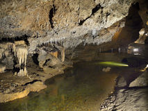 Mysterious Cave Interior Lagoon Education Speleology Royalty Free Stock Photography