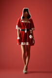 Mysterious Christmas girl Royalty Free Stock Photos