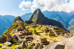 Mysterious city - Machu Picchu, Peru,South America. The Incan ruins. Example of  polygonal masonry Stock Image