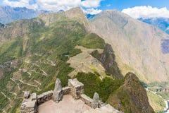 Mysterious city - Machu Picchu, Peru,South America. The Incan ruins Stock Photo