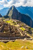 Mysterious city - Machu Picchu, Peru,South America. The Incan ruins Royalty Free Stock Photos