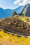 Mysterious city - Machu Picchu, Peru,South America. The Incan ruins. Royalty Free Stock Images