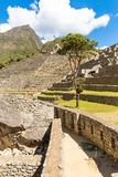 Mysterious city - Machu Picchu, Peru,South America. The Incan ruins Royalty Free Stock Images