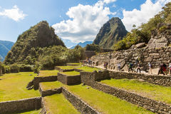 Mysterious city - Machu Picchu, Peru,South America. The Incan ruins and terrace. Example of  polygonal masonry Stock Images