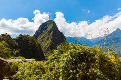 Mysterious city - Machu Picchu, Peru,South America. The Incan ruins and terrace Stock Photos