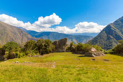 Mysterious city - Machu Picchu, Peru,South America. The Incan ruins and terrace. Stock Image