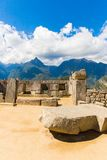 Mysterious city - Machu Picchu, Peru,South America. The Incan ruins and terrace. Example of  polygonal masonry Stock Photography