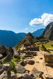 Mysterious city - Machu Picchu, Peru,South America. The Incan ruins and terrace. Royalty Free Stock Photos