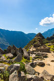 Mysterious city - Machu Picchu, Peru,South America. The Incan ruins and terrace Royalty Free Stock Photo