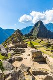 Mysterious city - Machu Picchu, Peru,South America. The Incan ruins and terrace. Stock Photos