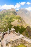 Mysterious city - Machu Picchu, Peru,South America. The Incan ruins and terrace. Royalty Free Stock Photography