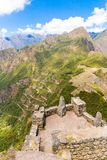 Mysterious city - Machu Picchu, Peru,South America. The Incan ruins and terrace. Stock Images