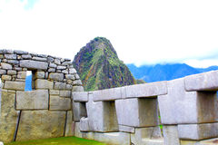 Mysterious city of Machu Picchu, Peru. Royalty Free Stock Image