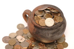 Mysterious coins Stock Image
