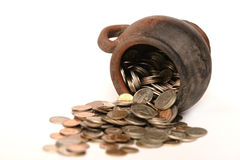 Mysterious coins Royalty Free Stock Photo