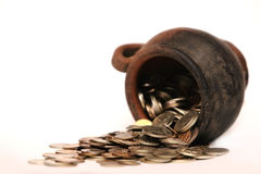 Mysterious coins Royalty Free Stock Photography