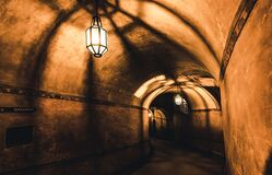 Free Mysterious Corridor In The Old Dungeon Royalty Free Stock Photography - 187071997
