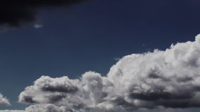 Mysterious Dark and Light Sunny Clouds stock footage