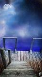 Mysterious dock royalty free stock photos