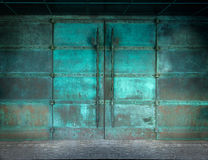 Mysterious doors of copper Royalty Free Stock Photography