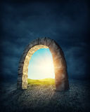 Mysterious entrance. To new life or beginning Royalty Free Stock Image