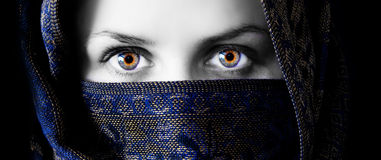 Mysterious eyes Royalty Free Stock Image