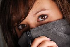 Mysterious eyes royalty free stock photos